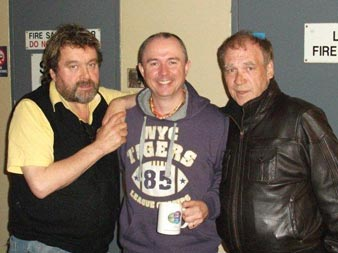 Pat with Finbar Furey and Brendan Grace